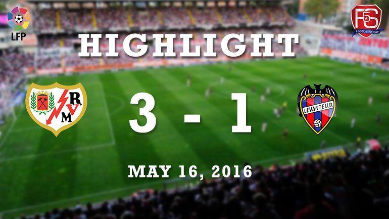 Rayo vallecano 3 - 1 Levante -  http://www.football5star.com/highlight/rayo-vallecano-3-1-levante/