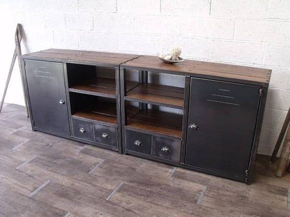 Meuble Industriel Bibliotheque Casier Bois Industrial Style Furniture Wooden Lockers Wood Lockers