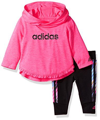 4a5a138cb Amazon.com  Adidas Baby Girls  Neon Melange Hooded Set  Clothing ...