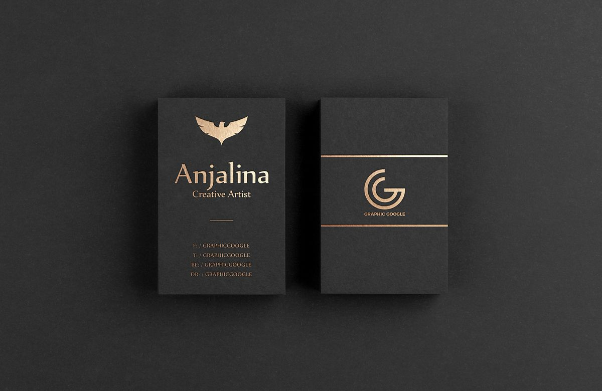 Gold Foil Business Card Psd Mockup Download For Free With Images