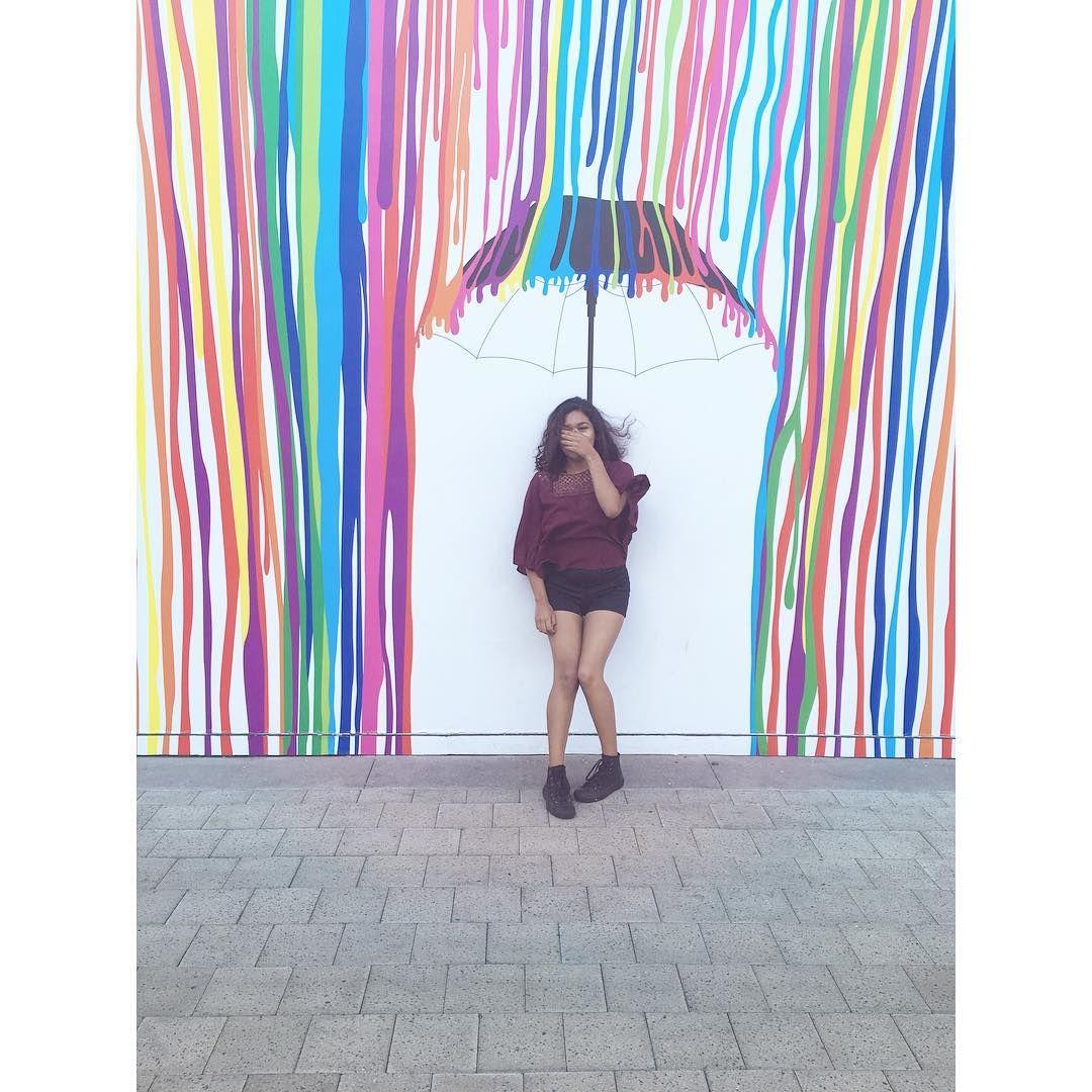 umbrella wall art in downtown summerlin -vegas- mall | I ...