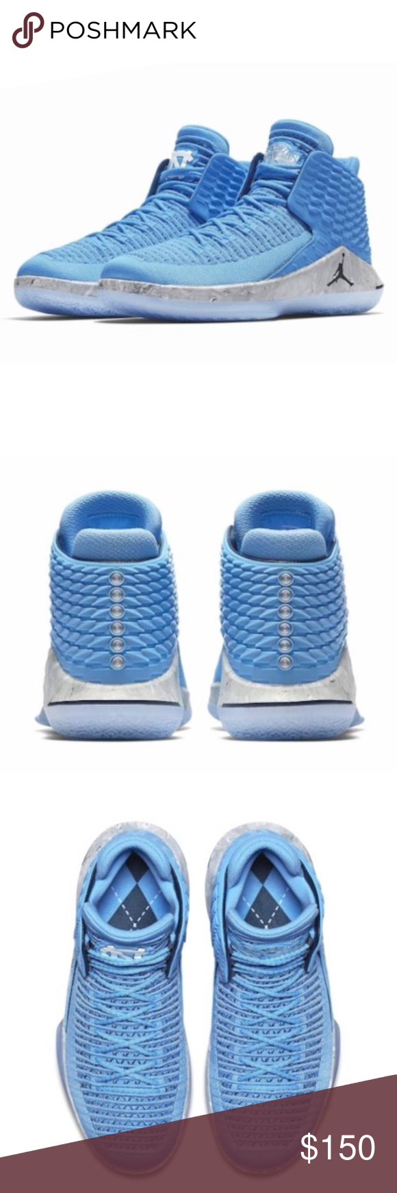 8401d655200035 Nike AIR JORDAN 32 Men s Basketball Shoe - UNC New in Box As a tribute to