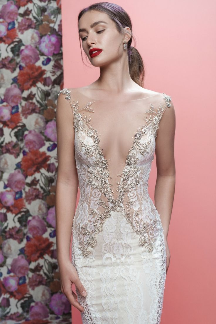 A closer look at the striking #Luca mermaid wedding dress from our ...