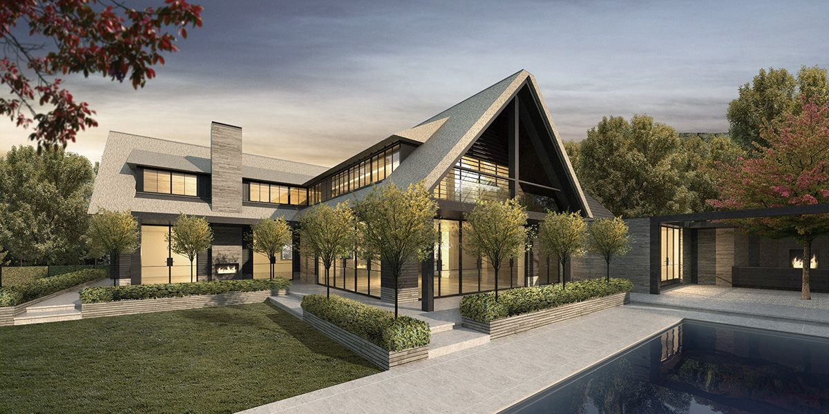 Modern klassiek villa belgie riet gekaleid ontw erp for Woningen moderne villa