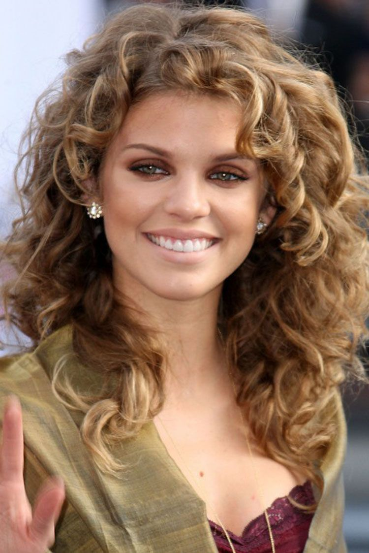 Hairstyles For Square Faces Impressive Mid Length Curly Hairstyles For Square Faces  2014 Medium
