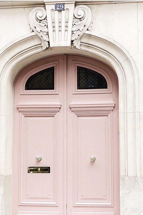 Nature And Culture Beautiful Pink Door In Paris Pink House Exterior Front Door Paint Colors Pink Door