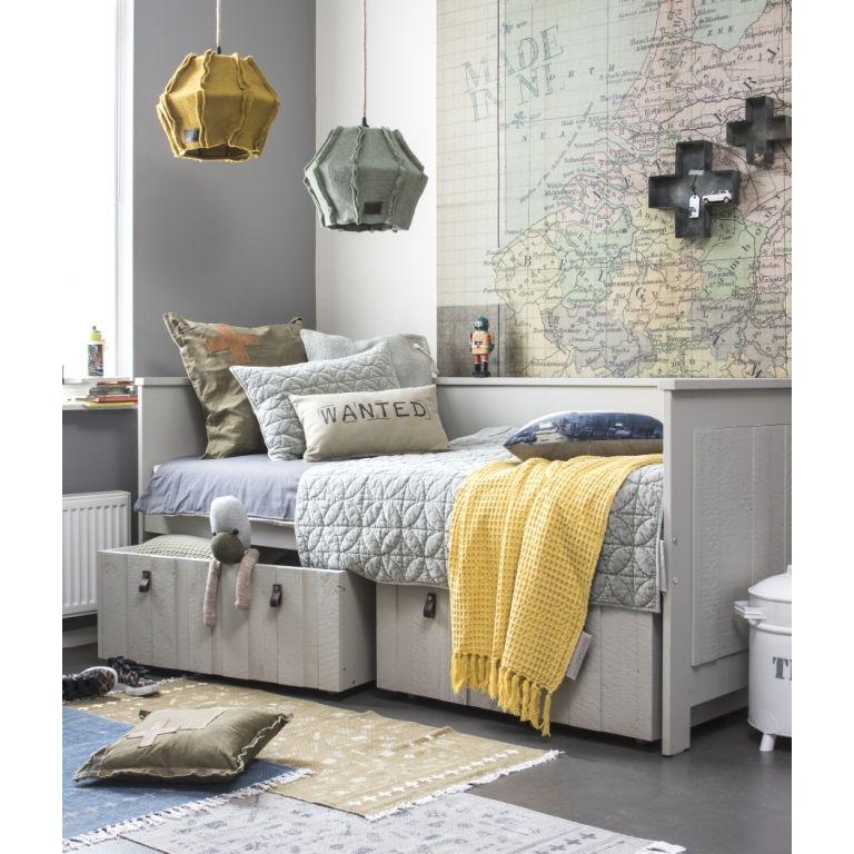 Stapelgoed Samtige Kinderzimmerdecke/Quilt 'Velvet' grau