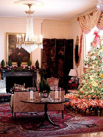 Let Nature and Christmas Color Tie Rooms Together Parlour