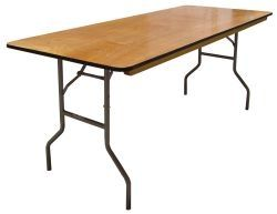 Cheap Prices 30 X 96 Plywood Folding Table Banquet