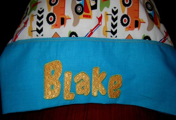 Toddler size Pillow w Personalized Case  by BeautifullyMadeByDia, $33.00