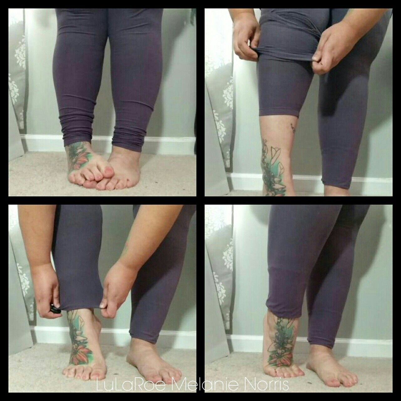 1ff7337d401047 LuLaRoe leggings too long? Try this trick to get rid of the bunching at the  bottom! Join my VIP shopping group for more tips and tricks! ...