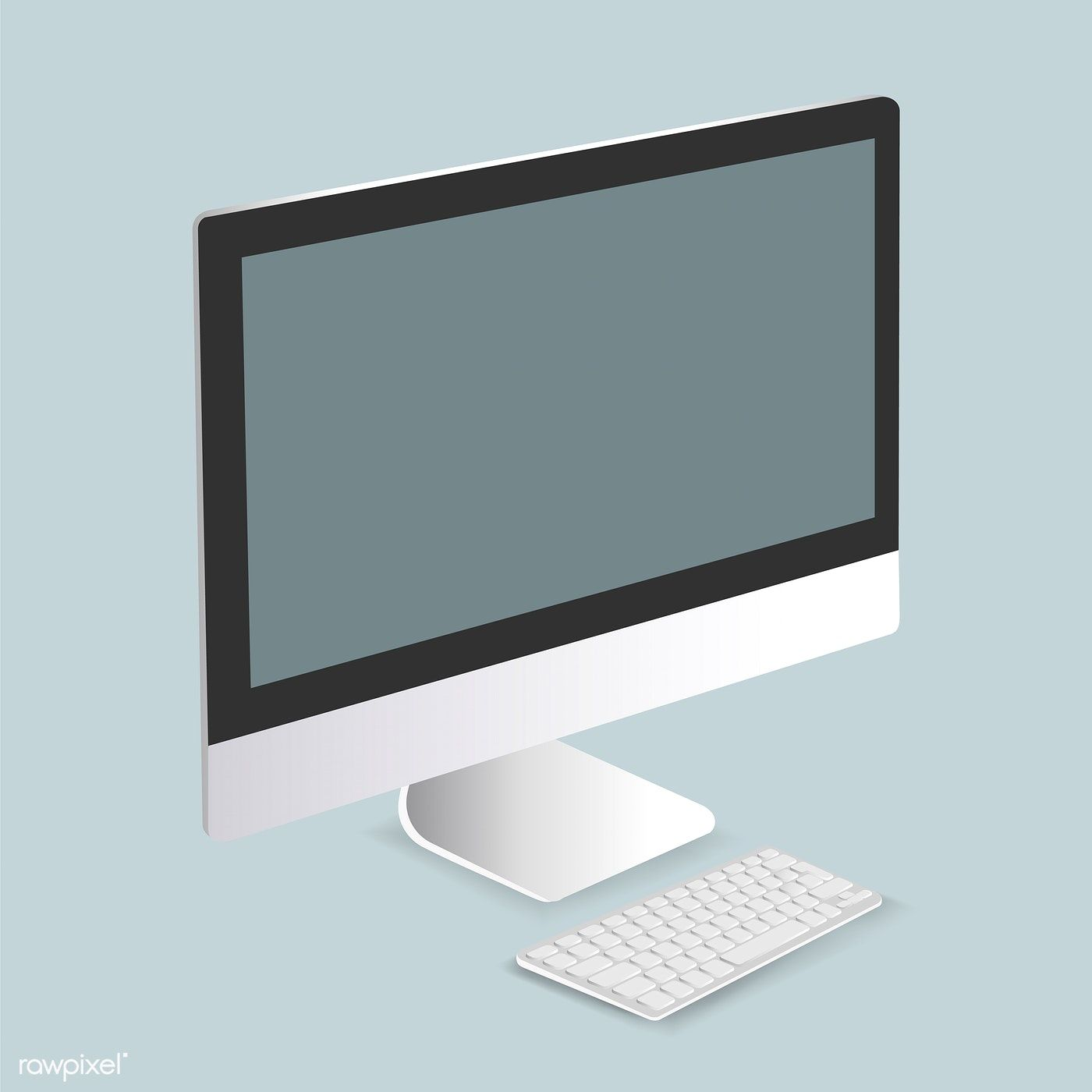 Vector Of Computer Monitor Icon Free Image By Rawpixel Com Computer Vector Computer Vector Free