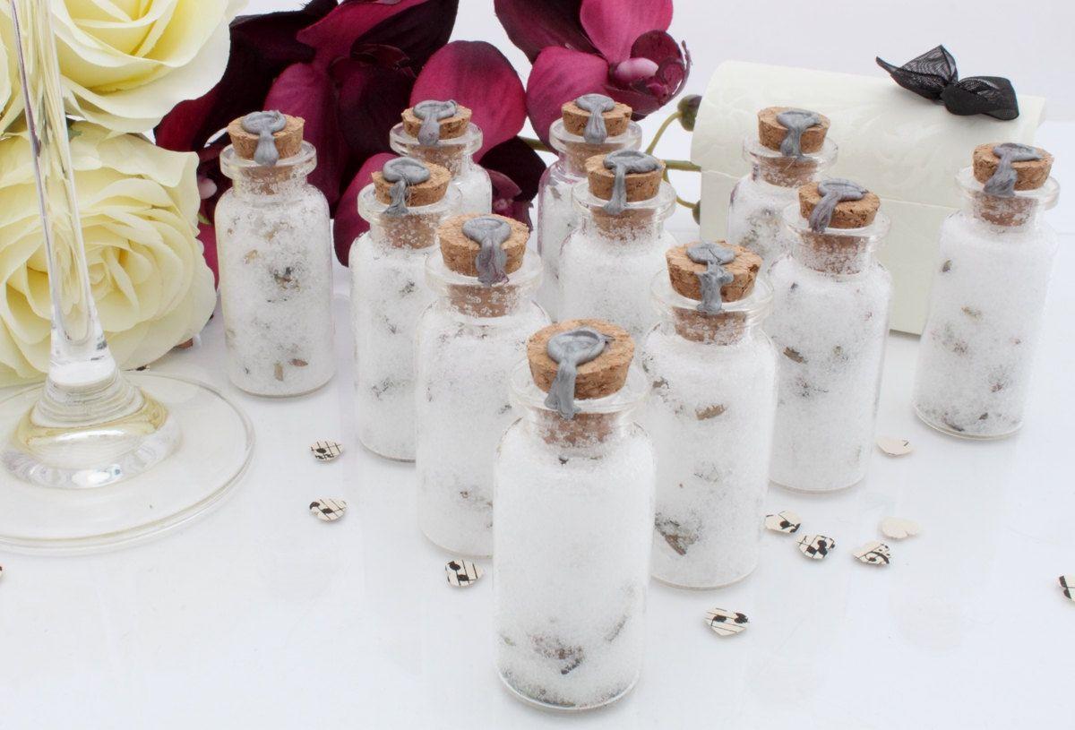 50 Essential oil lavender bath salts wedding favours- glass vials ...