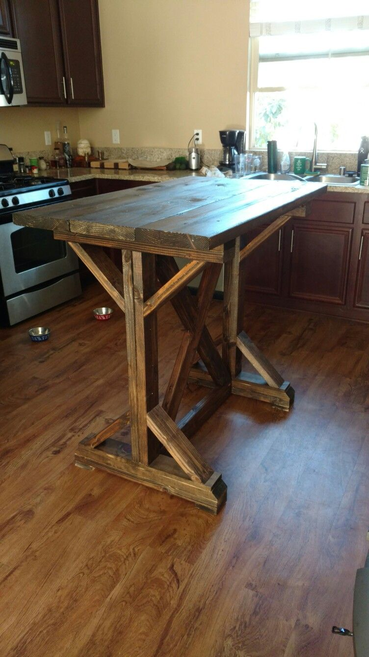 Pub Height Farmhouse Table Bar Height Dining Table Wooden Dining Tables High Dining Table