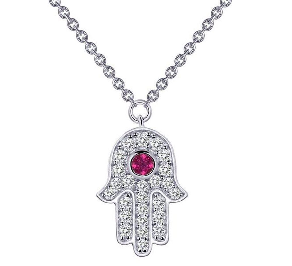 Lafonn necklace jewelry hamsathe hamsa is an ancient middle different religions meanings jewish arabic islam symbol meaning the ability to ward off the evil eye and biocorpaavc Images