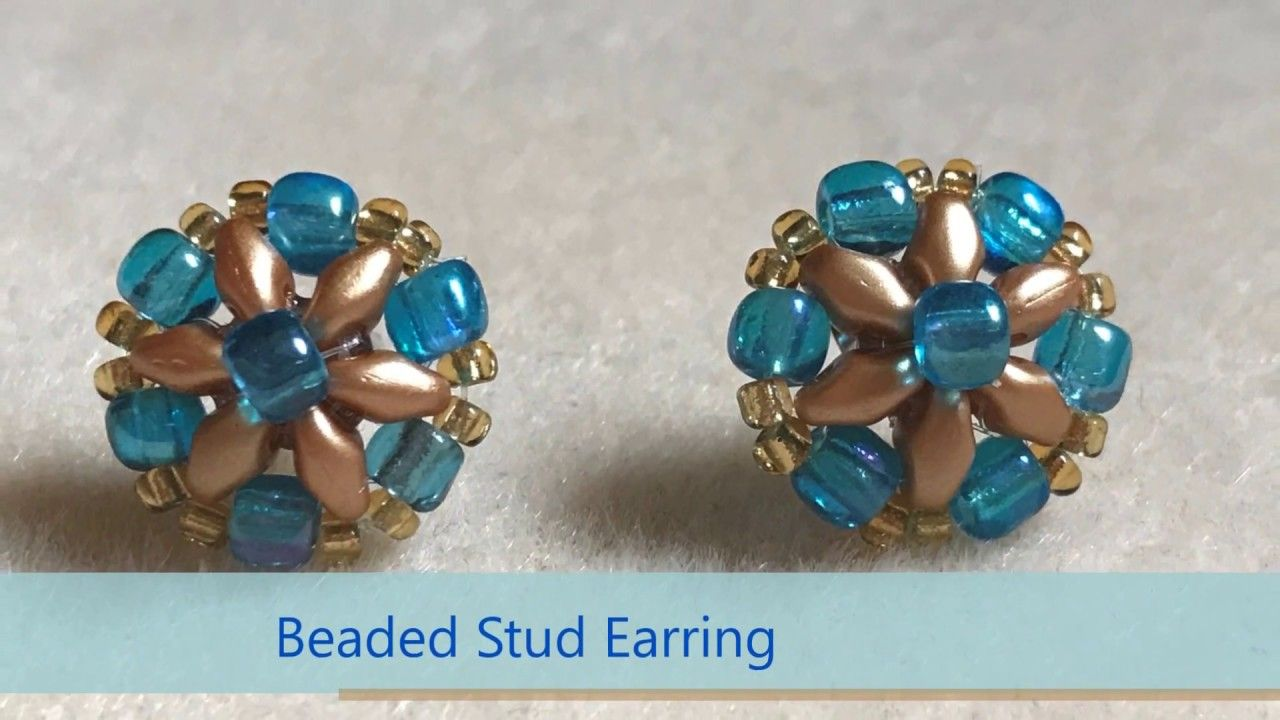 Stunning Superduo Stud Diy Simple And Easy With Images