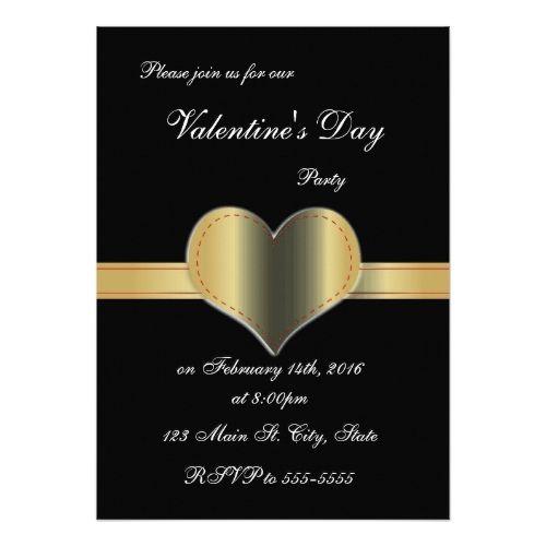 Valentineu0027s Day Party Invitations Heart Sash Valentineu0027s Day - valentines day invitations
