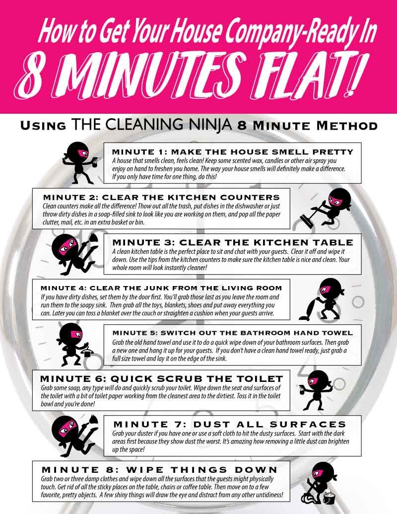How to clean your living room in 5 minutes - How To Get Your House Ready For Unexpected Company In 8 Minutes