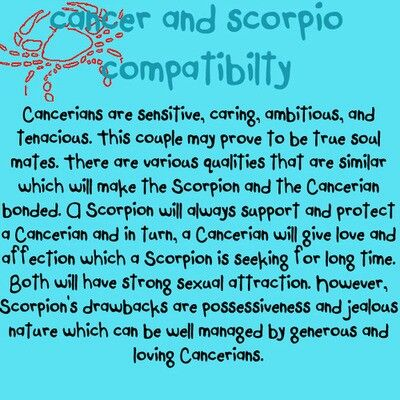 Zodiac cancer hookup cancers and scorpios
