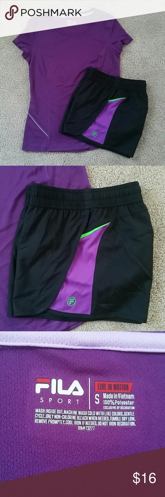 32ee161de7a NWOT Fila Sport Outfit NWOT Both size small. Top: Purple Fila scoop neck  performance