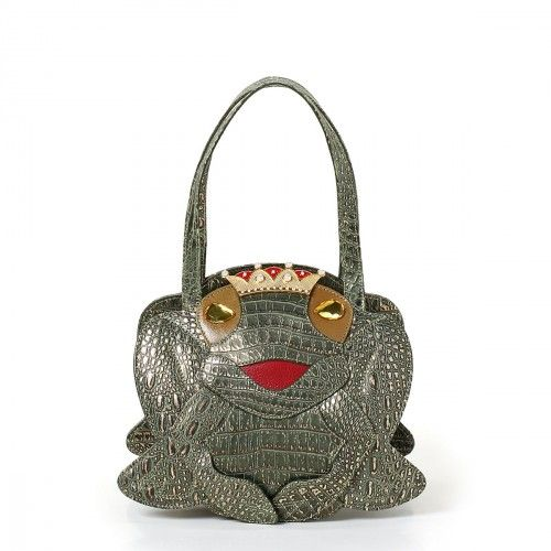 Braccialini | Frog Handbag | Cute leather bag for those