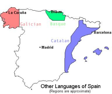 Languages In Spain Map.They Don T Speak Just Spanish In Spain Foreign Languages And
