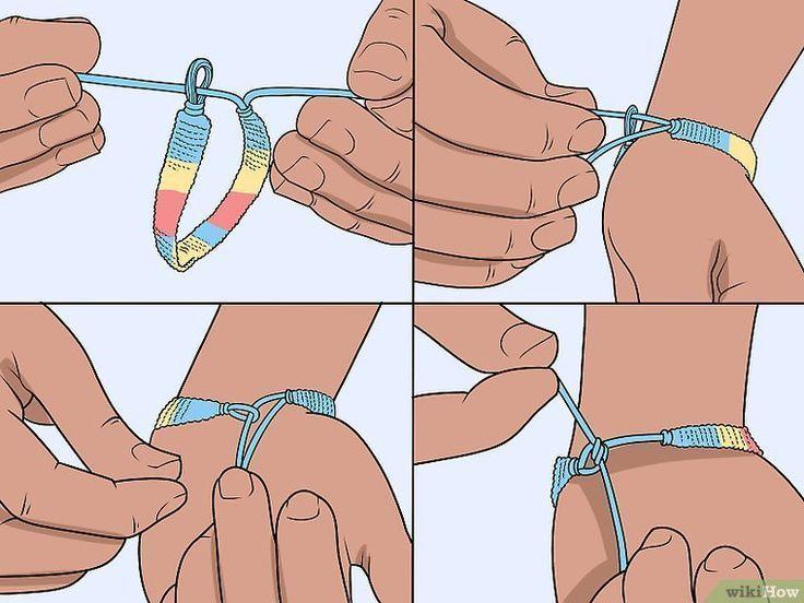 3 Möglichkeiten, Freundschaftsbänder zu binden wikiHow Source von majamanee #embroide, #bild...