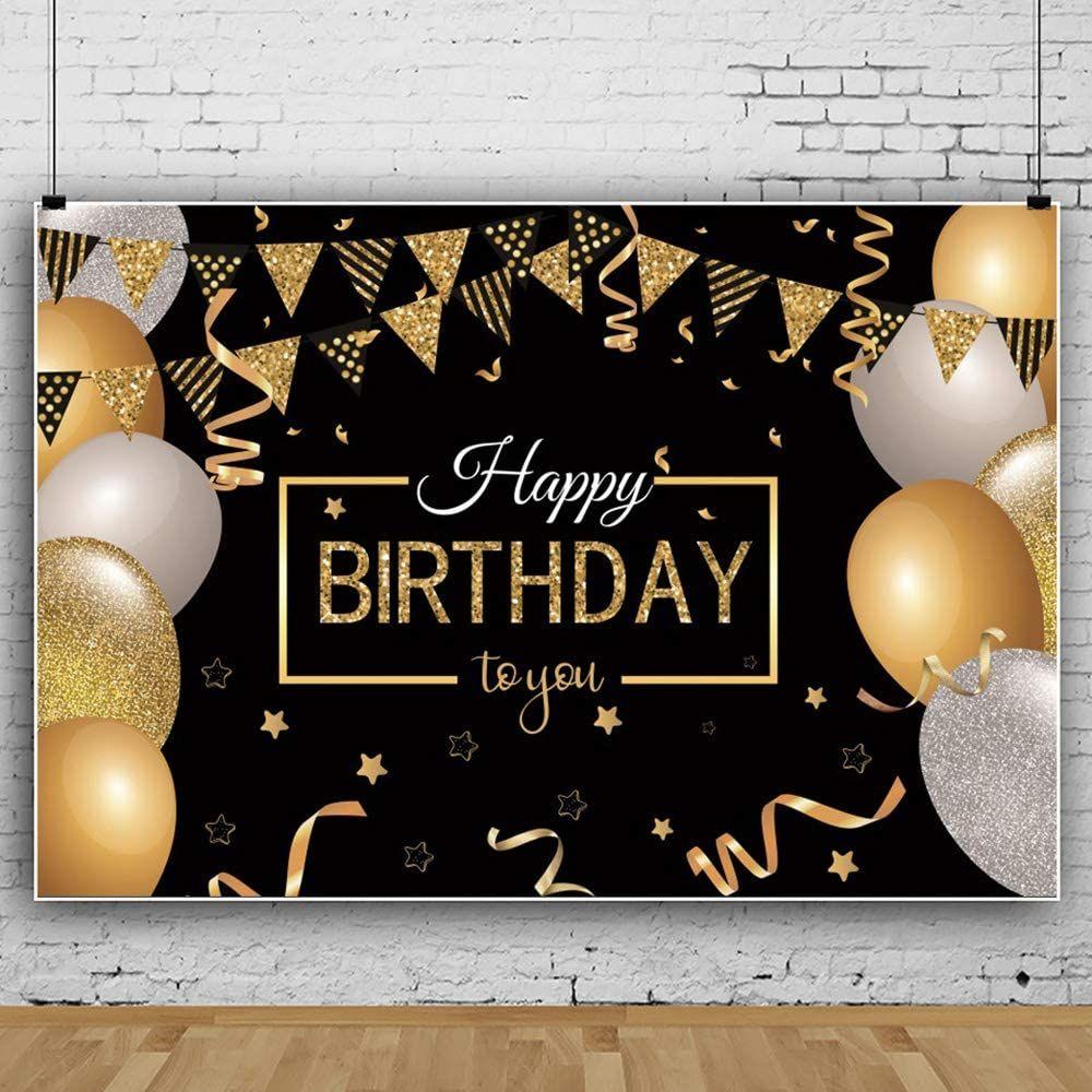 Geburtstag Schwarz Gold Party Dekoration Extragrosses Gewebe Schwarz Gold Zeichen Plakat Fur Jahrestag Fotoautomat Fahne Gold Party Partydekoration Jahrestag