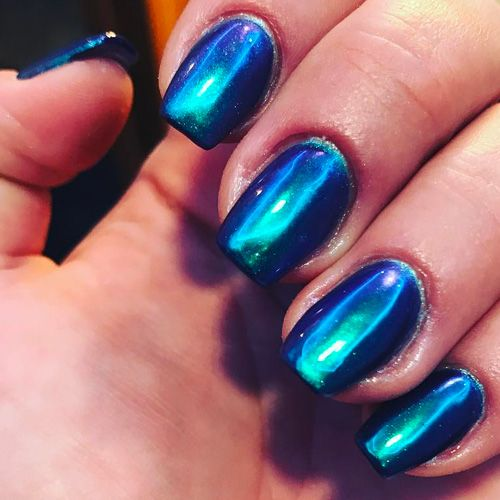 Very Pretty Galaxy Blue Nails
