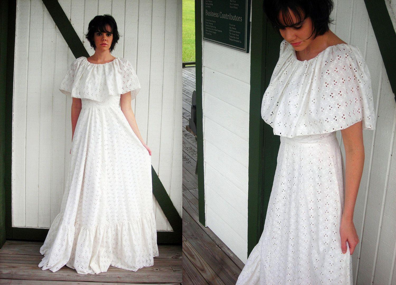 Eyelet wedding dress  beautiful etherial wedding gowns  s Ethereal Bohemian Maxi Dress