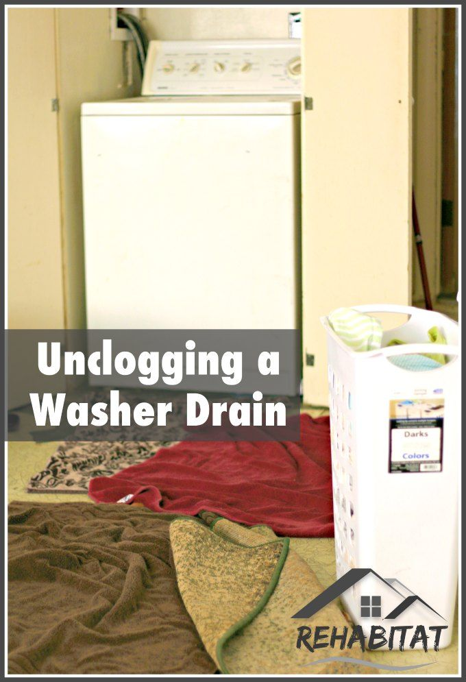 Unclogging A Washer Drain Unclog Drain Washing Machine Washer