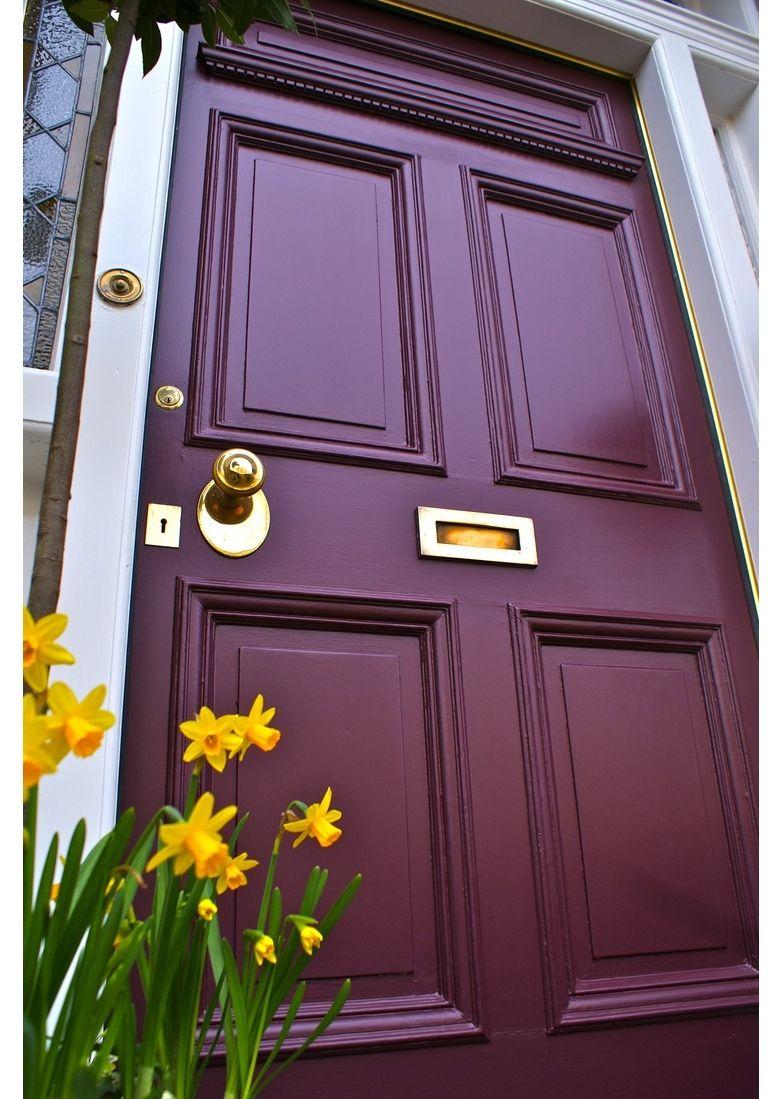 Wine Colored Front Door Painted Front Doors Front Door Paint