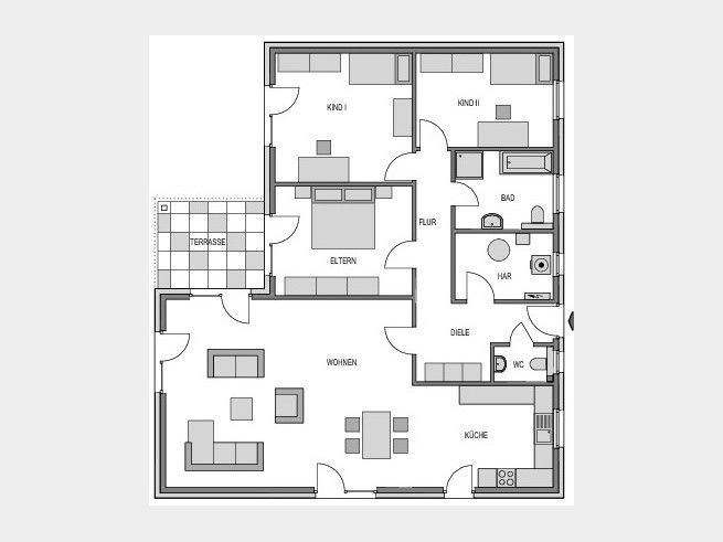 grundriss eg bungalow pinterest grundrisse h uschen grundrisse und grundriss bungalow. Black Bedroom Furniture Sets. Home Design Ideas