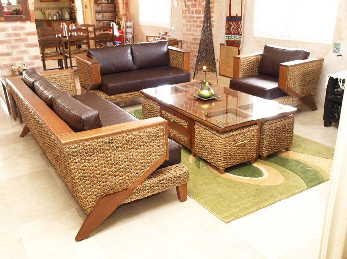 Fabrication de meubles en rotin bambou feuille de bananier jacinthe deau