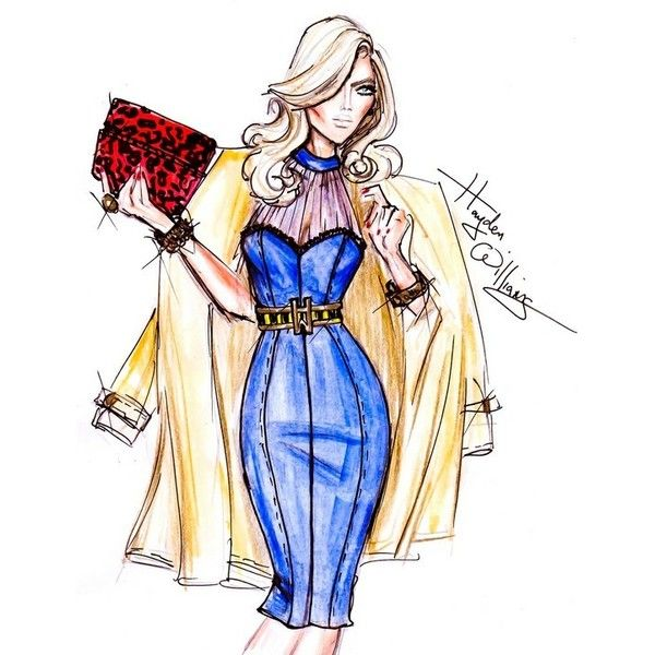 I Love Fashion Sketches ❤ liked on Polyvore featuring fashion illustration and sketches