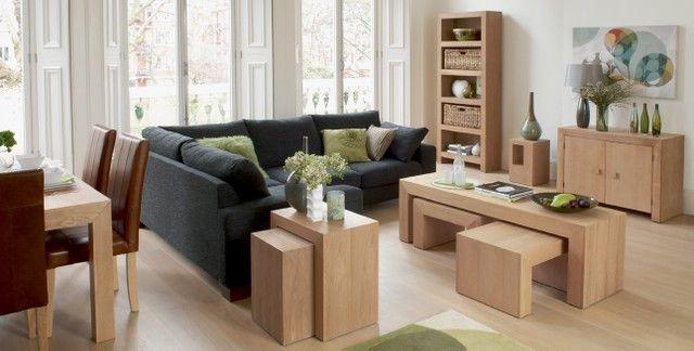 Modern Pale Wood Living Room With Dark Grey Sofa Living Room Wood Next Furniture Pale Wood