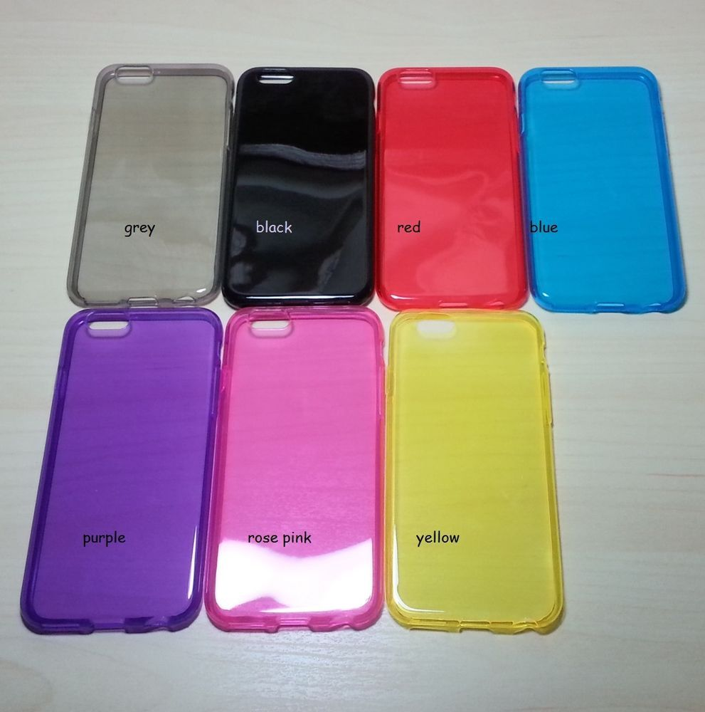 For Apple iphone 6 (4.7 inches) Assorted Color TPU Soft Silicone case
