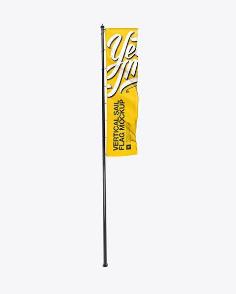 Download Vertical Sail Flag Psd Mockuptemplate Mockup Mockup Free Psd Free Mockup