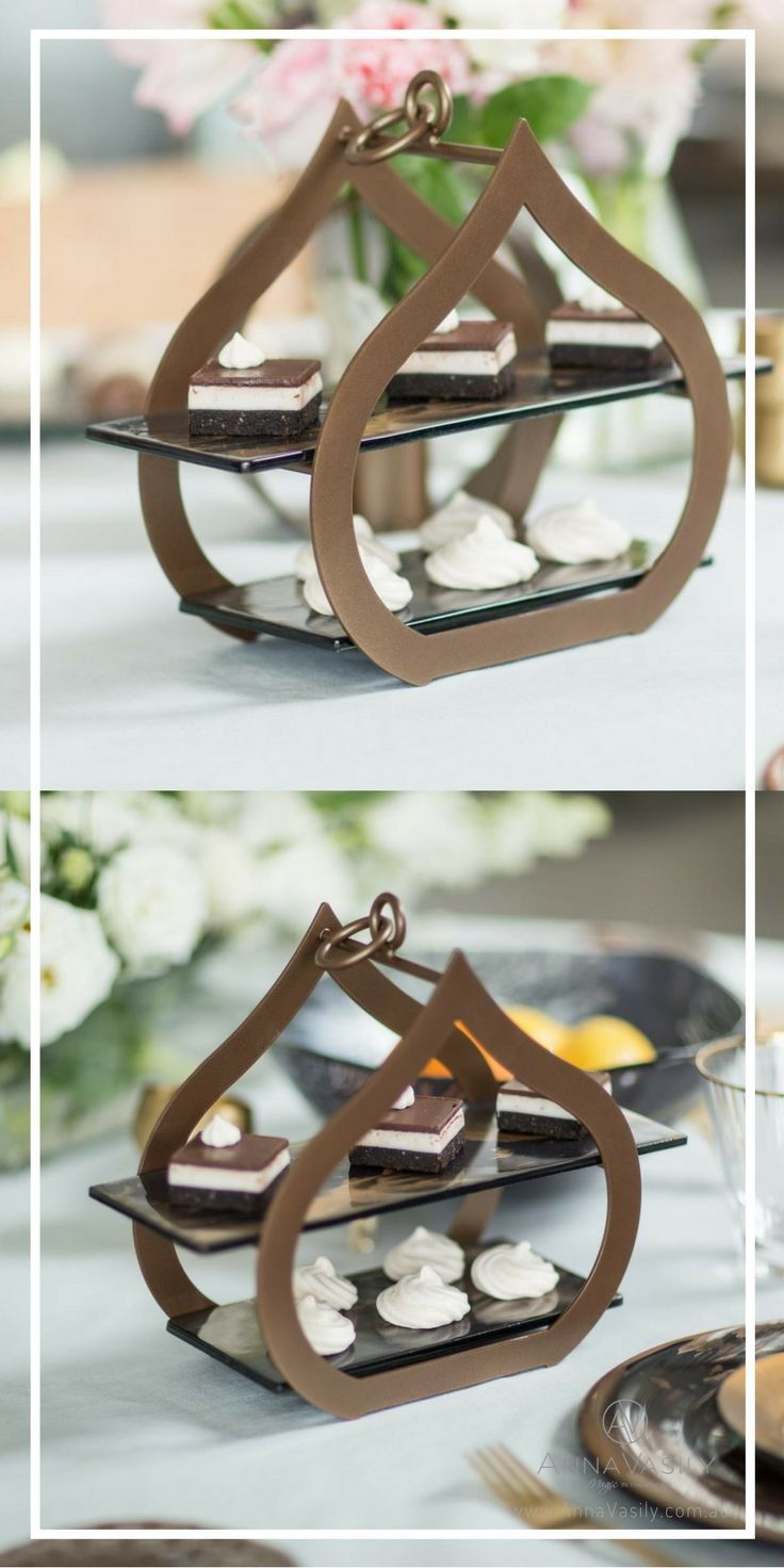 A small two tier tea stand can turn any occasion into a