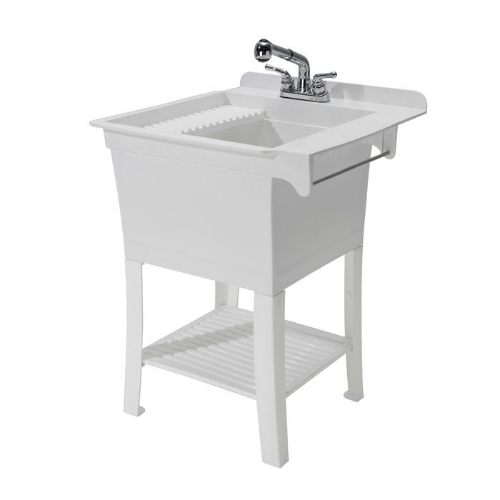 Maddox Workstation 24 38 X 25 75 Freestanding Laundry Sink With