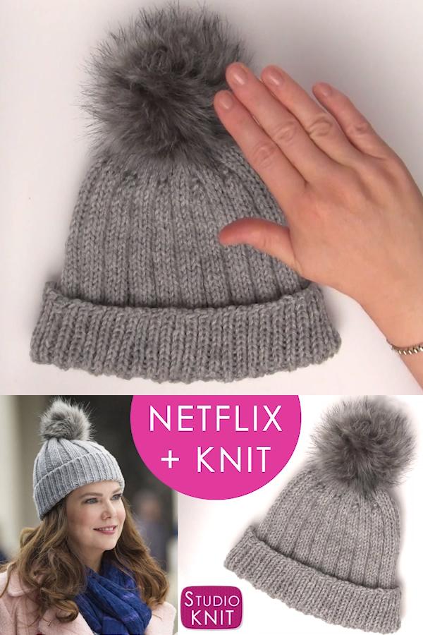 Gilmore Girls Ribbed Knit Hat Pattern