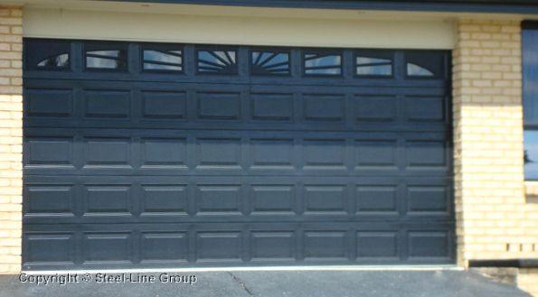 Heritage Sectional Garage Door With Sunray X 8 Windows Garage