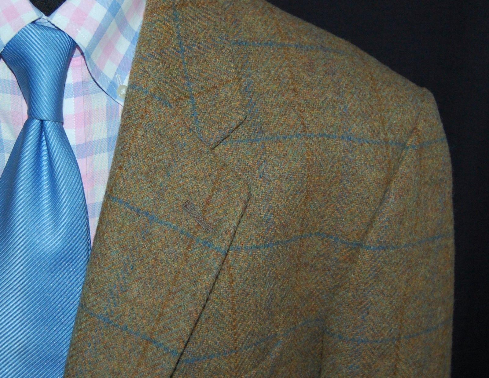 Mens jacket marks and spencer - Mens Green Check Marks Spencer M S Tweed Blazer Jacket 44s 44 S Short Ebay