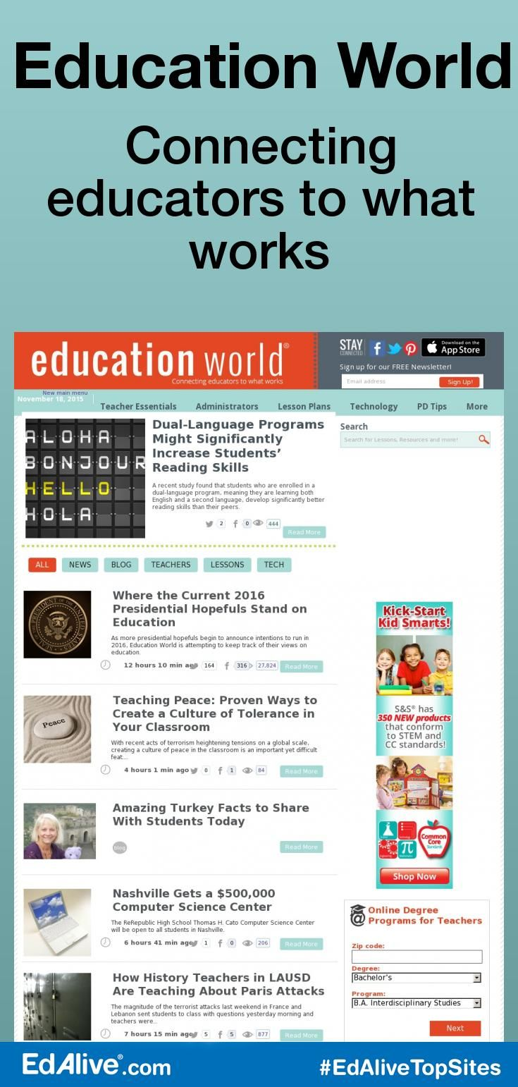 Education World | Professional development, Teaching resources and ...