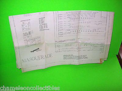 masquerade by gottlieb 1966 original pinball machine schematic