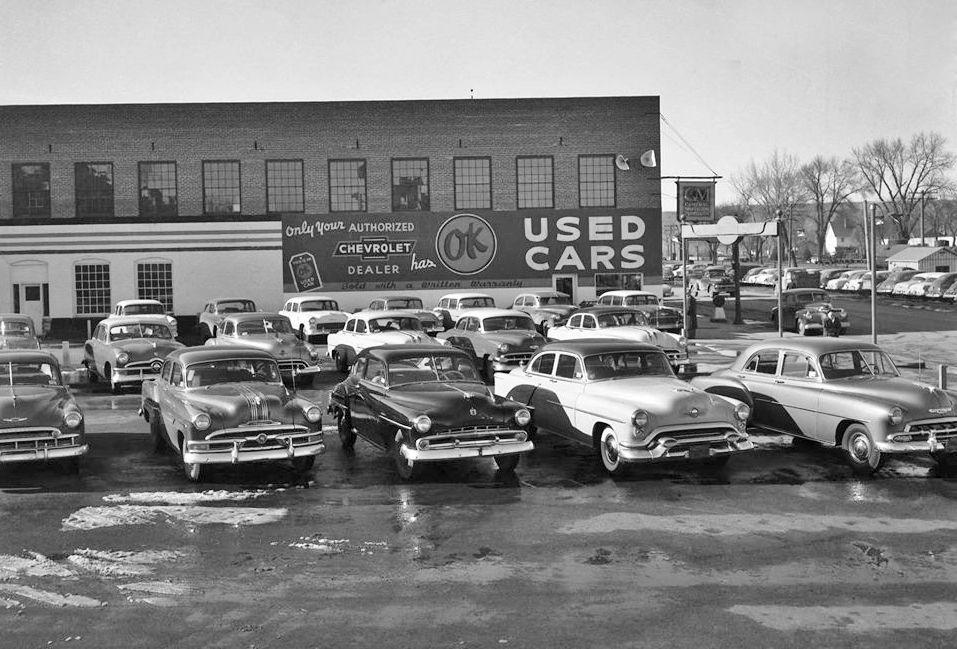 1950 S Chevrolet Dealer Ok Used Cars Chevrolet S Vintage Cars 1950s Car Dealership Good Used Cars