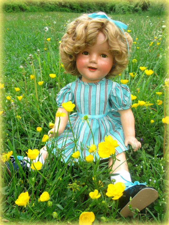 "Vintage Ideal Shirley Temple Composition Doll Large 20"" Size 1930's Antique"