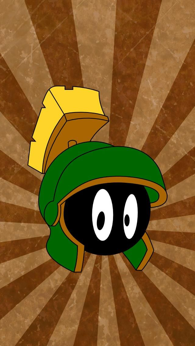 Marvin The Martian Iphone 5 Wallpaper 640x1136 Marvin The Martian The Martian Looney Tunes Wallpaper
