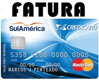 Fatura Credicard Sulamerica International Mastercard In 2020 With