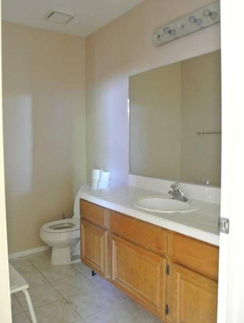 Before And After A Builder Grade Bathroom Gets Major Personality Bathroom Makeover Diy Bathroom Remodel Bathrooms Remodel